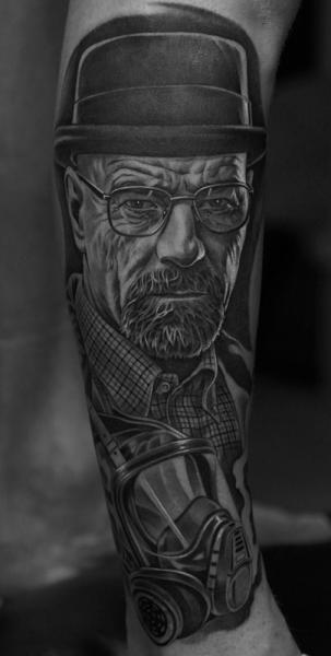 arm gas mask breaking bad walter white tattoo by jun cha. Black Bedroom Furniture Sets. Home Design Ideas
