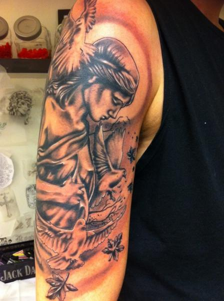 Shoulder Arm Angel Tattoo by Tattoo Studio 73