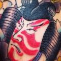 Arm Japanese Samurai tattoo by Chopstick Tattoo