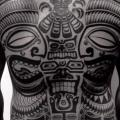 Rücken Tribal Maori tattoo von Chopstick Tattoo