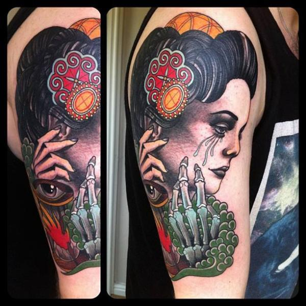 Marked For Life Tattoos And Gangs: Shoulder New School Women Skeleton Tattoo By Marked For Life