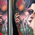 Shoulder New School Women Skeleton tattoo by Marked For Life
