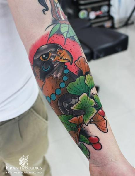 Arm Eagle Tattoo by Piranha Tattoo Studio