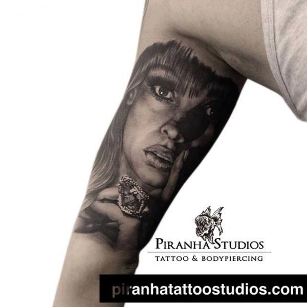 Arm Portrait Realistic Tattoo By Piranha Tattoo Studio