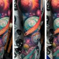 Sleeve Planet Space tattoo by The Art of London