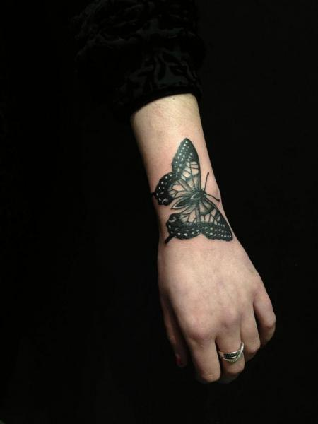 Arm Butterfly Tattoo by Hidden Moon Tattoo
