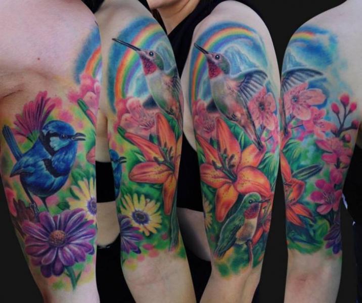 Arm Flower Hummingbird...