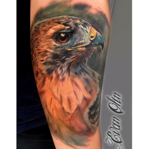 Arm Realistic Eagle Tattoo by Powerline Tattoo