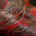 Japanese Back Dragon tattoo by RG74 tattoo