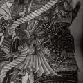 Japanische Rücken Samurai tattoo von RG74 tattoo