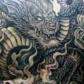 tatuagem Costas Dragão por Kipod Studio