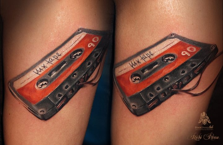 Arm Realistische Musik 3d Tattoo von Blacksheep Ink
