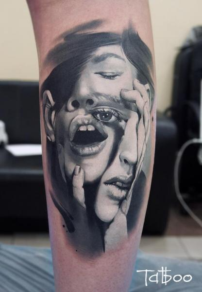 Arm Women Abstract Tattoo by Valentina Riabova
