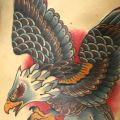 Old School Side Eagle tattoo by Vienna Electric Tattoo