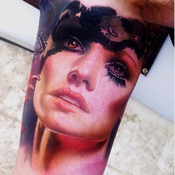 Arm Women Tattoo by Alex de Pase