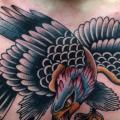 New School Brust Adler tattoo von Captured Tattoo