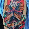 Schulter New School Adler tattoo von Captured Tattoo