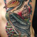 New School Seite Vogel tattoo von Captured Tattoo