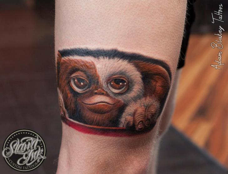 Fantasie Bein Gremlin Tattoo Von Slawit Ink