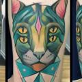 Arm Fantasy Cat tattoo by Mefisto Tattoo Studio