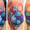 Calf Bird tattoo by Mefisto Tattoo Studio