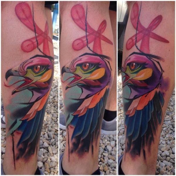 Calf Eagle Tattoo by Mefisto Tattoo Studio