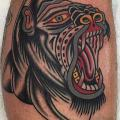 Calf Old School Gorilla tattoo by Cloak and Dagger Tattoo