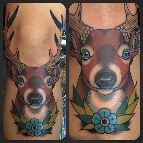 Tatouage cerf tattoo pictures to pin on pinterest - Tatouage cerf signification ...