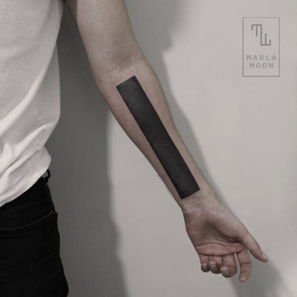 Arm Dotwork Linien Abstrakt Tattoo von Marla Moon