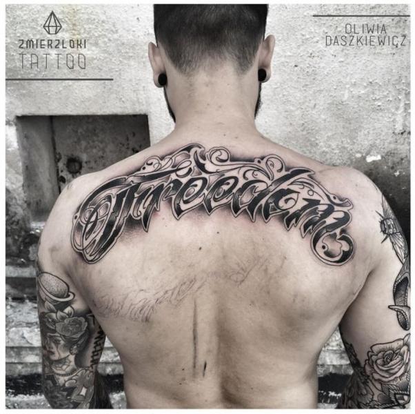 Conosciuto Scritte Schiena Caratteri di Zmierzloki tattoo QR62