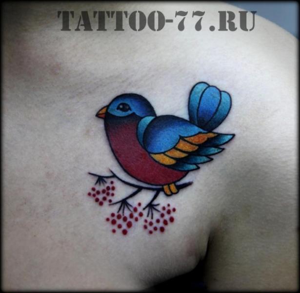 Schulter New School Spatz Tattoo von Tattoo-77
