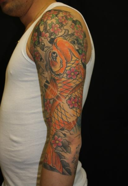 arm japanese carp tattoo by body cult. Black Bedroom Furniture Sets. Home Design Ideas