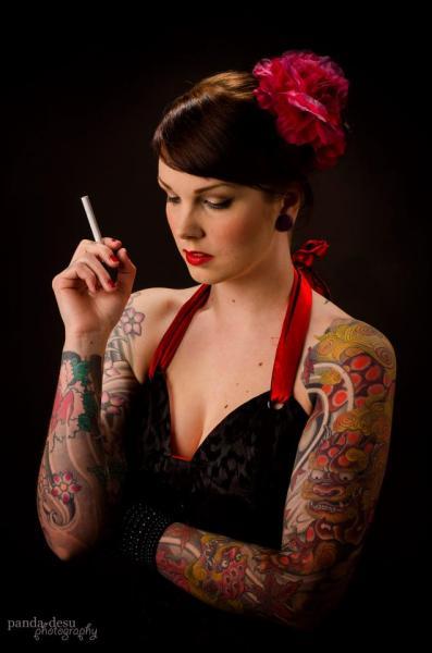 Japanese Dragon Sleeve Tattoo by Dalmiro Tattoo