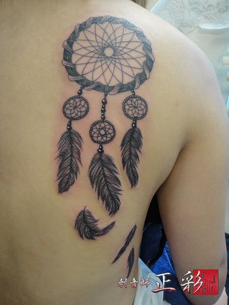 Tatuaje Espalda Atrapasueños por Wabori