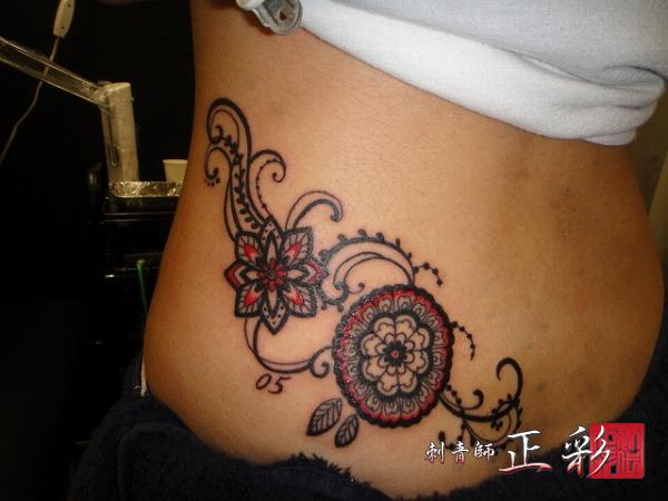 Side back decoration tattoo by wabori for Side back tattoo