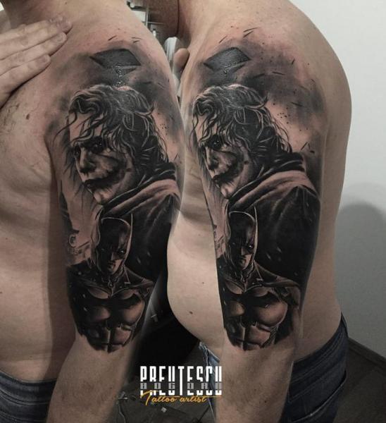 Molto Spalla Batman Joker di El Loco Tattoo Lounge II45