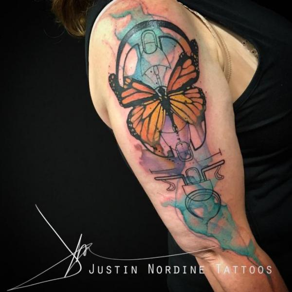 Butterfly Water Color Tattoo by The Raw Canvas