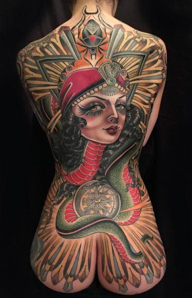 Snake Back Gypsy Butt Scrabble Body Compass Tattoo by Kings Avenue Tattoo