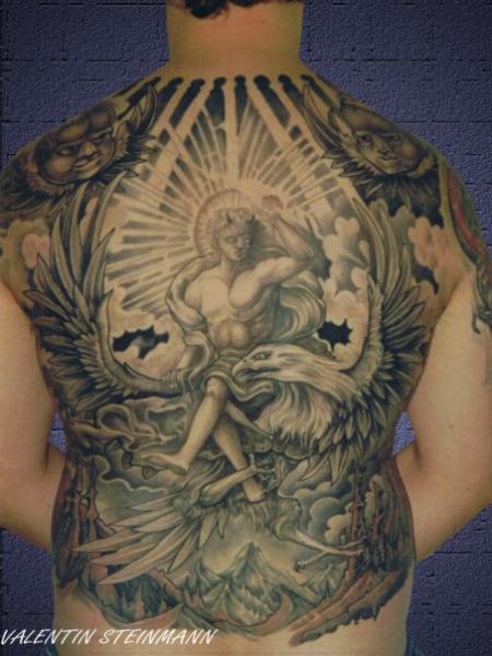 fantasie r cken engel adler tattoo von tattoo valentin. Black Bedroom Furniture Sets. Home Design Ideas