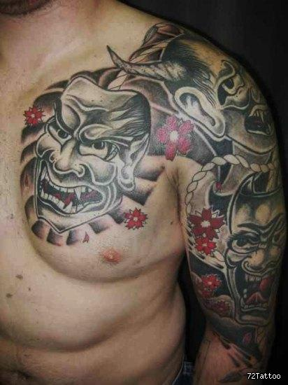 Shoulder Japanese Tattoo by 72 Tattoo