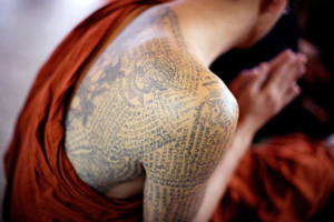 Buddhist tattoo