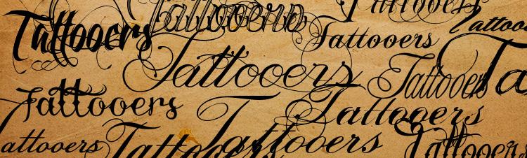 fontes de caligrafia para tatuagem