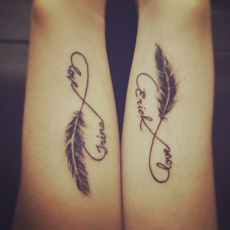 Couple tattoo: infinity