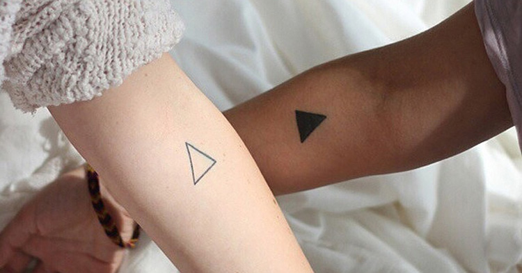 Couple tattoo: triangle