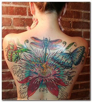 decorative butterfly tattoo