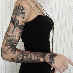 floral Sleeve Tattoo