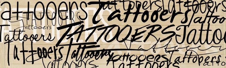 handwriting tattoo fonts