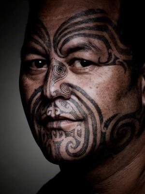 маори мужская татуировка