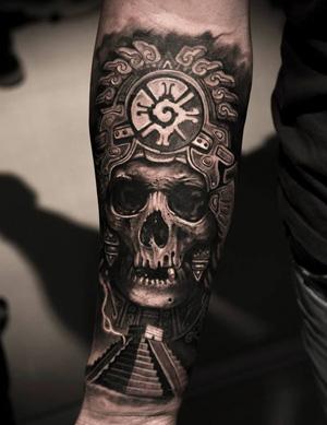 mayan skull tattoos