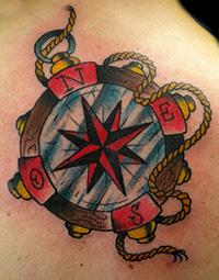 tatuaje náutico estrellas vieja escuela
